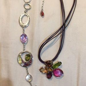 Swarovski necklace and bracelet set.